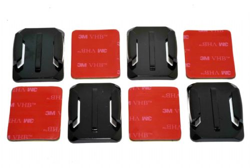 Curved Surface  Adhesive Mounts GoPro Compatible x4